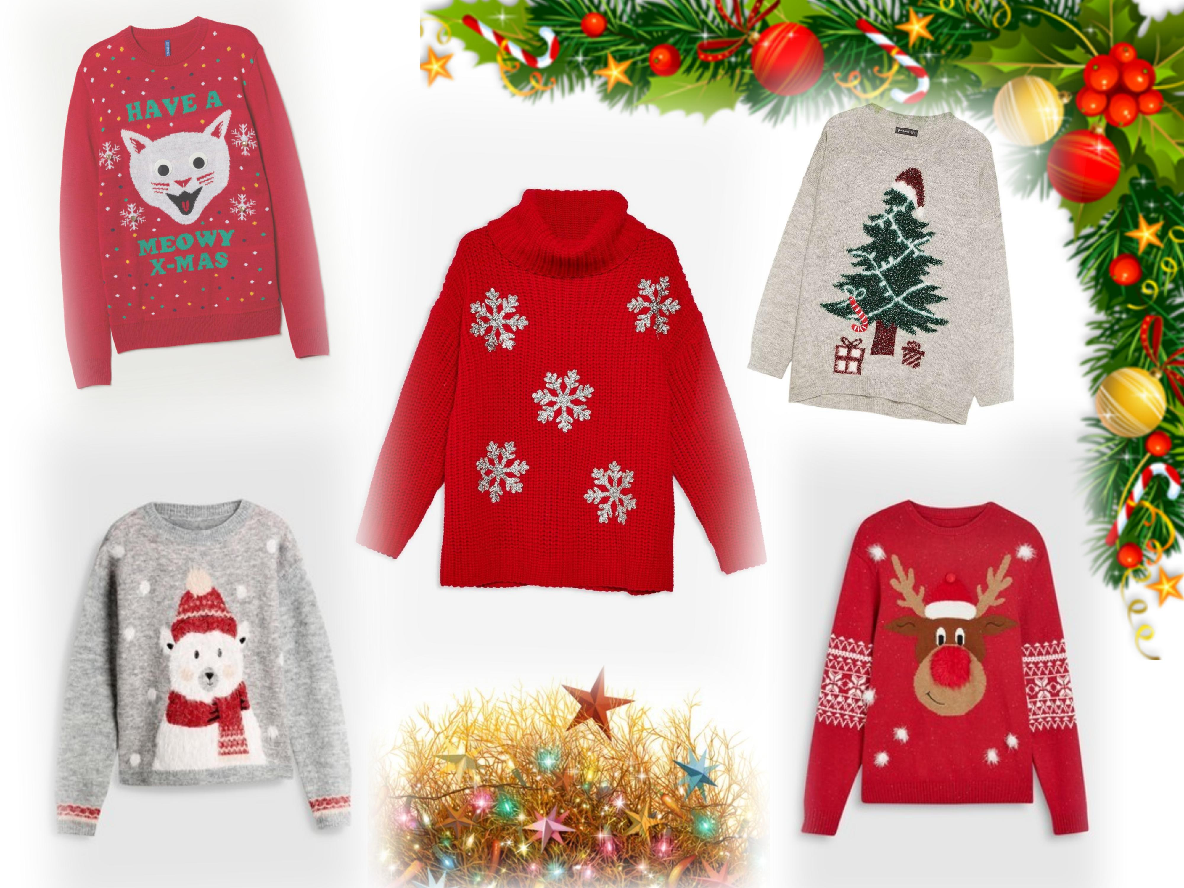 collage xmas sweater